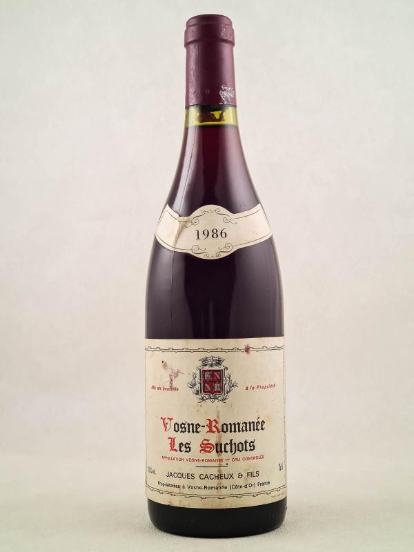"""Jacques Cacheux - Vosne Romanée 1er cru """"Les Suchots"""" 1986"""