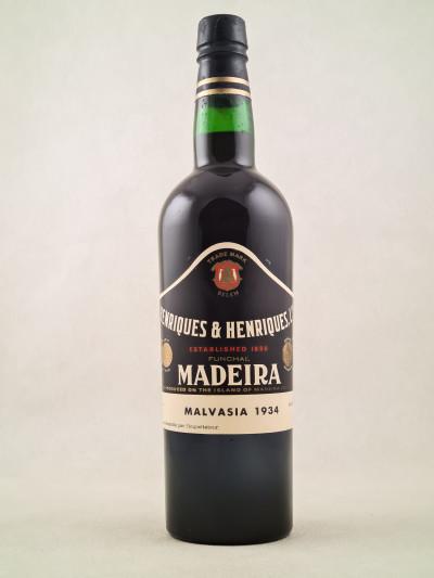Henriques & Henriques - Porto Madeira Malvasia 1934