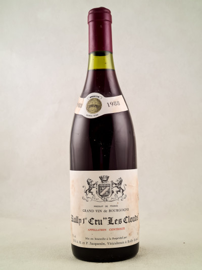 "Jacqueson - Rully 1er cru ""Les Clouds"" 1988"