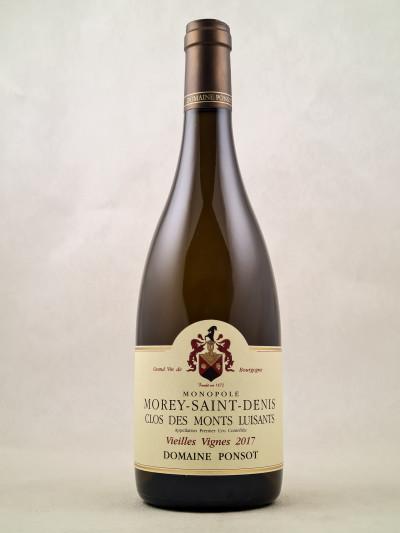 """Ponsot - Morey St Denis 1er cru """"Clos des Monts Luisants Vieilles Vignes"""" 2017"""