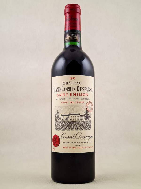 Grand Corbin Despagne - Saint Emilion 1975