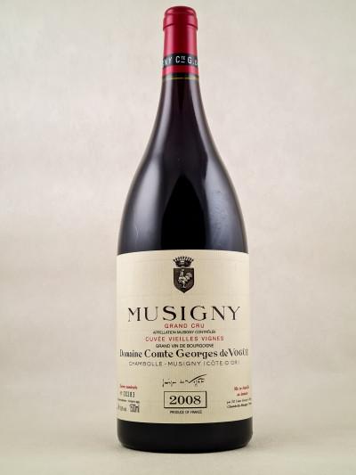 """Comte Georges de Vogüé - Musigny """"Vieilles Vignes"""" 2008 MAGNUM"""