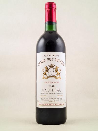 Grand Puy Ducasse - Pauillac 1986