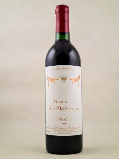 """Baron Philippe de Rothschild - Médoc """"Mise de la Baronnie"""" 1988"""
