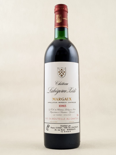 Labegorce Zédé - Margaux 1985