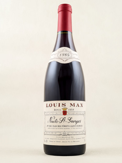 """Louis Max - Nuits Saint Georges 1er cru """"Clos des Fôrets St Georges"""" 1985"""
