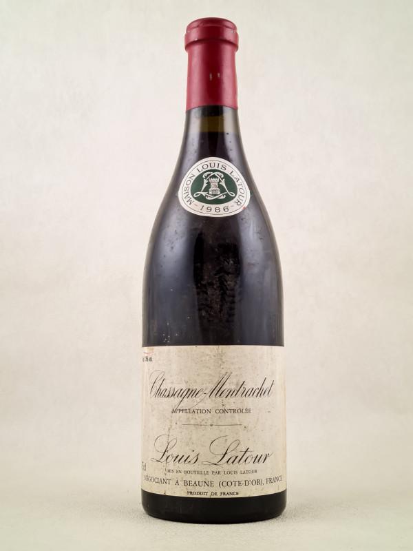 Louis Latour - Chassagne Montrachet rouge 1986