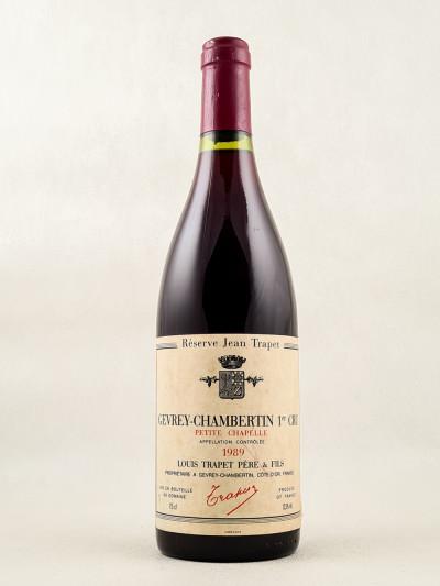 "Trapet - Gevrey Chambertin 1er cru ""Petite Chapelle"" 1989"