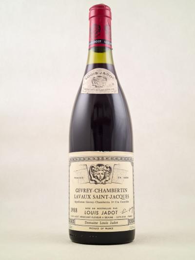 "Louis Jadot - Gevrey Chambertin 1er cru ""Lavaux Saint Jacques"" 1988"