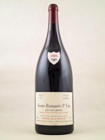 """Domaine de la Poulette - Vosne Romanée 1er cru """"Les Suchots"""" 2005 MAGNUM"""