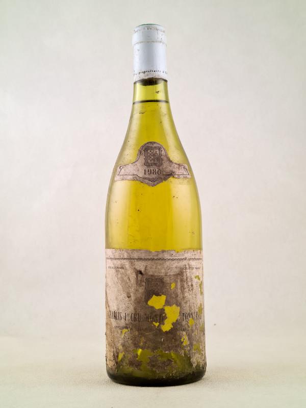"""Servin - Chablis 1er cru """"Montée de Tonnerre"""" 1980"""