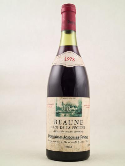 """Jacques Prieur - Beaune 1er cru """"Clos de la Féguine"""" 1978"""