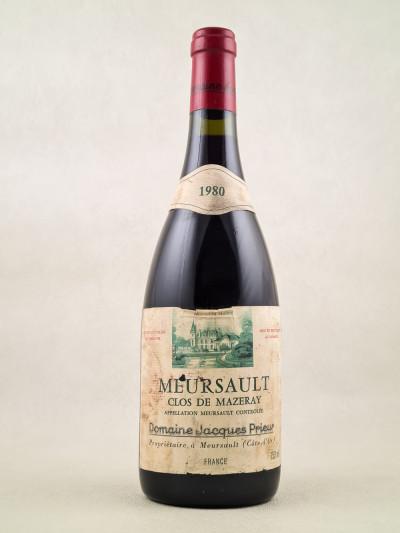 "Jacques Prieur - Meursault ""Clos de Mazeray"" 1980"