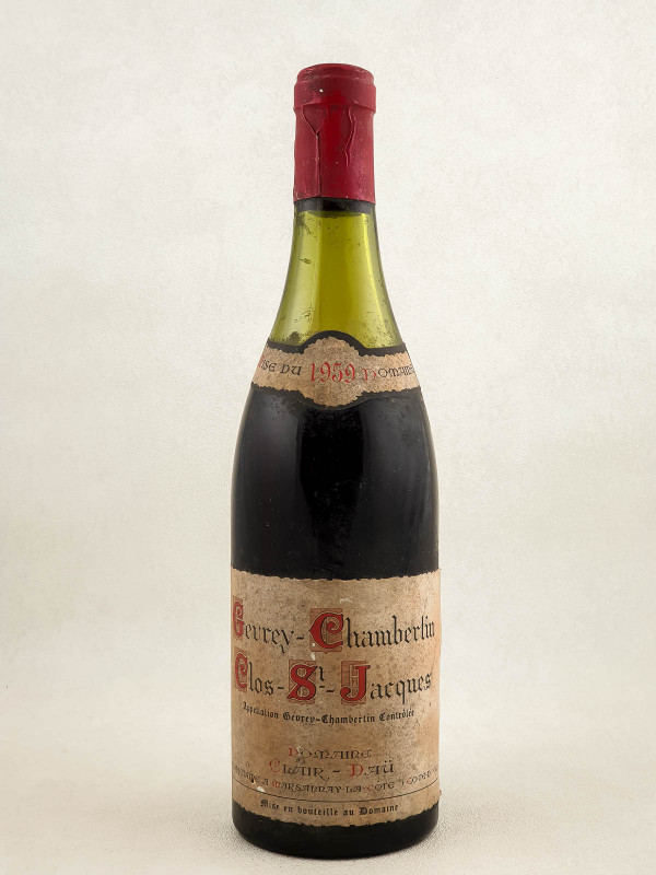 """Clair Daü - Gevrey Chambertin 1er cru """"Clos Saint Jacques"""" 1959"""