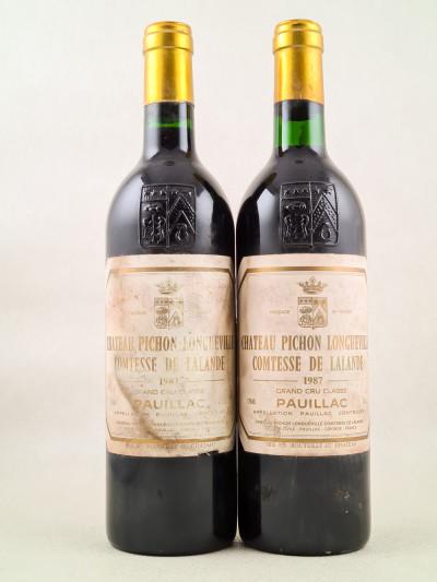 Pichon Longueville Comtesse de Lalande - Pauillac 1987 x2