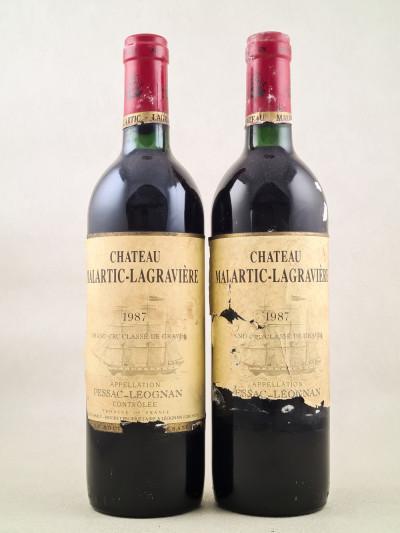Malartic Lagravière - Pessac Léognan 1987 x2