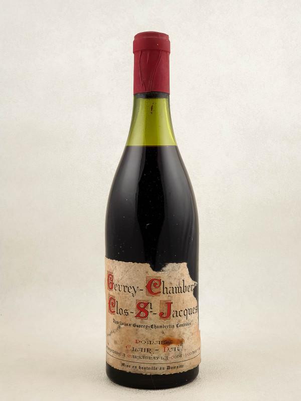 "Clair Daü - Gevrey Chambertin 1er cru ""Clos Saint Jacques"" Vintage Label Lost"