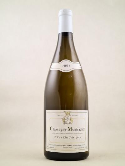 "Paul Pillot - Chassagne Montrachet 1er cru ""Clos St Jean"" 2004 MAGNUM"