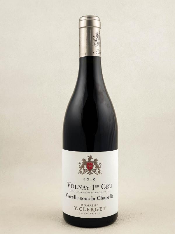 "Yvon Clerget - Volnay 1er cru ""Carelle Sous La Chapelle"" 2016"