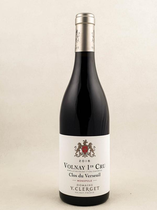 """Yvon Clerget - Volnay 1er cru """"Clos du Verseuil"""" 2016"""