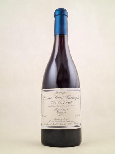 """Prieuré Saint Christophe - Vin de Savoie """"Mondeuse"""" 2005"""
