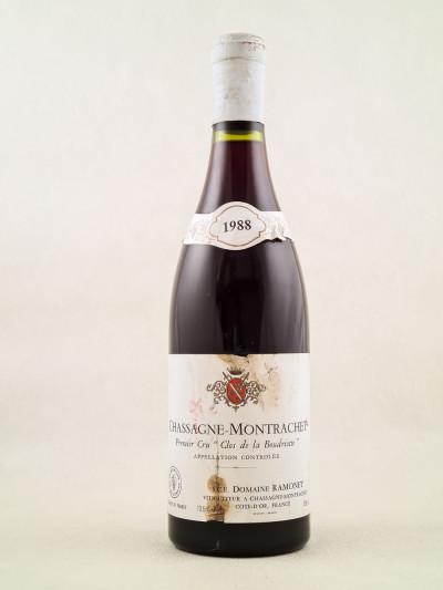 """Ramonet - Chassagne Montrachet 1er cru rouge """"Clos de la Boudriotte"""" 1988"""