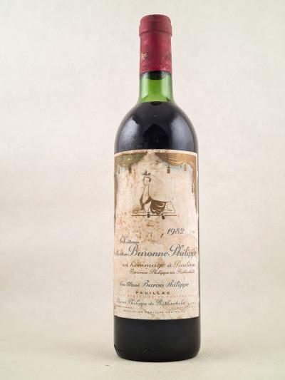 Mouton Baronne Philippe ( d'Armailhac ) - Pauillac 1982