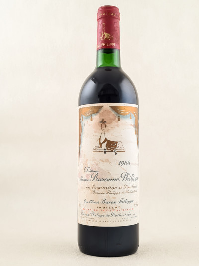 Mouton Baronne Philippe ( d'Armailhac ) - Pauillac 1986