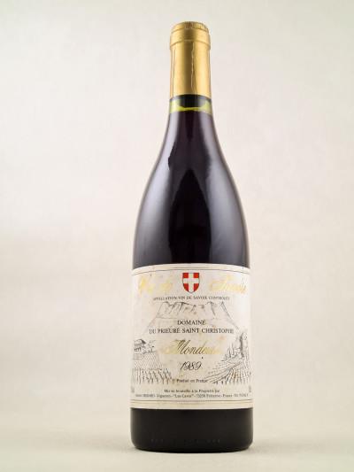 """Prieuré Saint Christophe Michel Grisard - Vin de Savoie """"Mondeuse"""" 1989"""