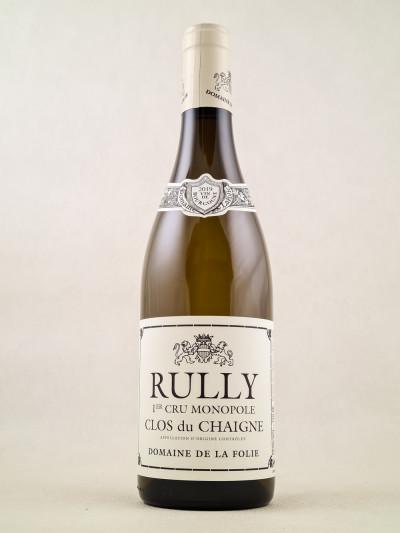"""Domaine de la Folie - Rully 1er cru """"Clos du Chaigne"""" 2019"""