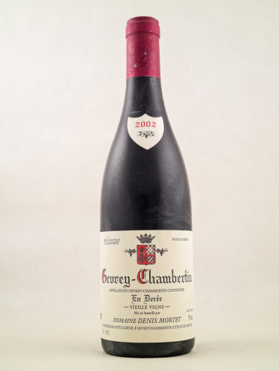 "Denis Mortet - Gevrey Chambertin ""En Derée - Vieilles Vignes"" 2002"