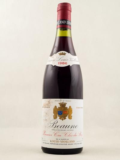 """Louis Violland - Beaune 1er Cru """"Clos du Roy"""" 1986"""