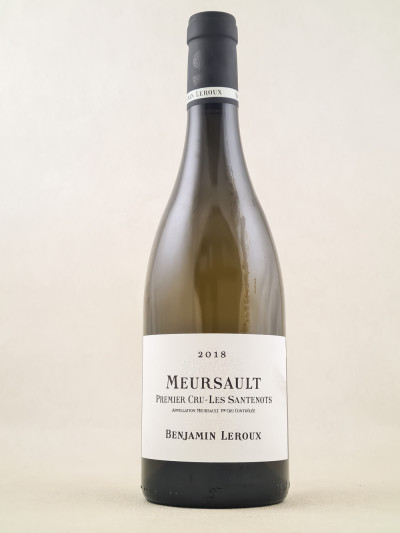 "Benjamin Leroux - Meursault 1er Cru ""Les Santenots"" 2018"