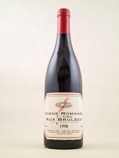 """Jean Grivot - Vosne Romanée 1er Cru """"Aux Brûlées"""" 1998"""