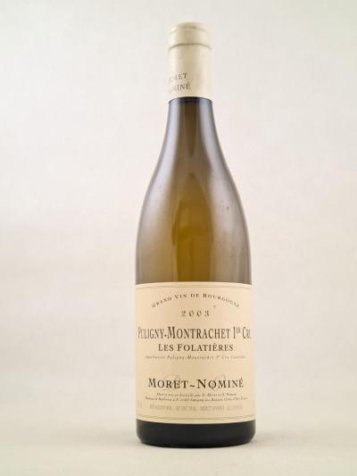 """Moret-Nominé - Puligny Montrachet 1er cru """"Folatières"""" 2003"""