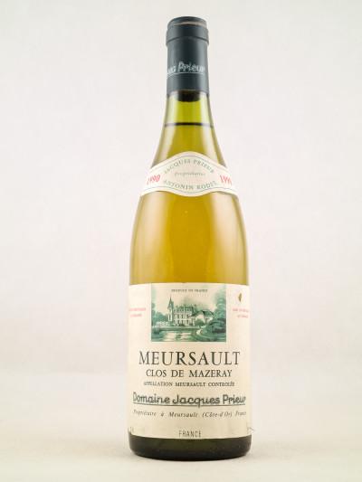 "Jacques Prieur - Meursault ""Clos de Mazeray"" 1990"