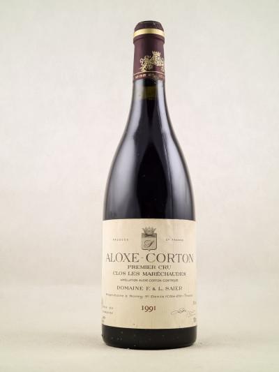 """Domaine F & L Saier - Aloxe Corton 1er Cru """"Clos les Maréchaudes"""" 1991"""