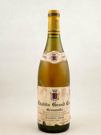 "Droin - Chablis grand cru ""Grenouilles"" 1988"