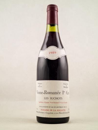 """Domaine de la Poulette - Vosne Romanée 1er cru """"Les Suchots"""" 1989"""