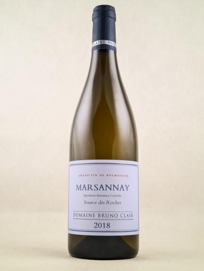 """Bruno Clair - Marsannay """"Source des Roches"""" 2018"""