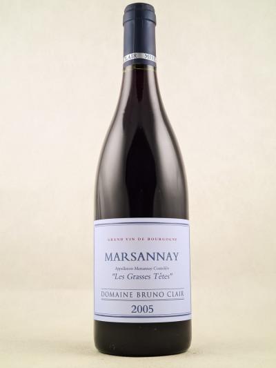 "Bruno Clair - Marsannay ""Les Grasses Têtes"" 2005"