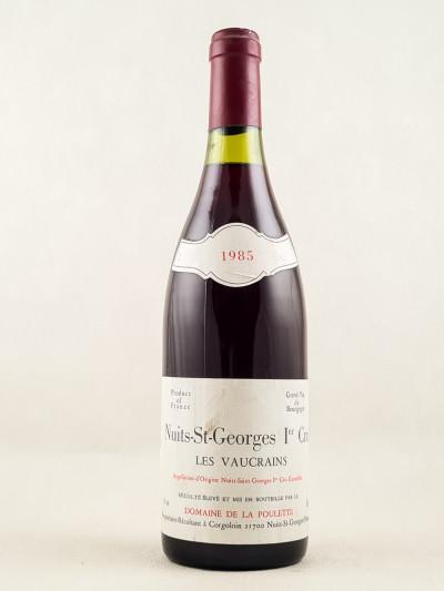 """Domaine de la Poulette - Nuits St Georges 1er cru """"Les Vaucrains"""" 1985"""