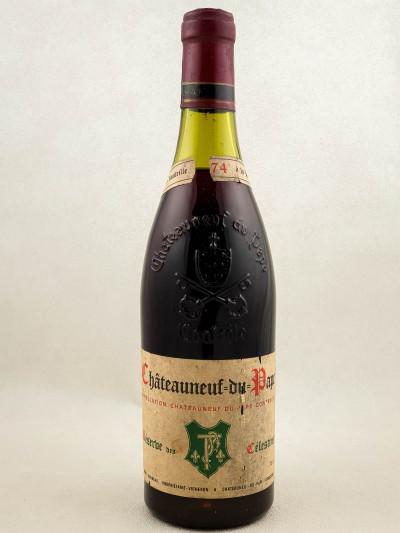"""Henri Bonneau - Châteauneuf du Pape """"Réserve des Célestins"""" 1974"""