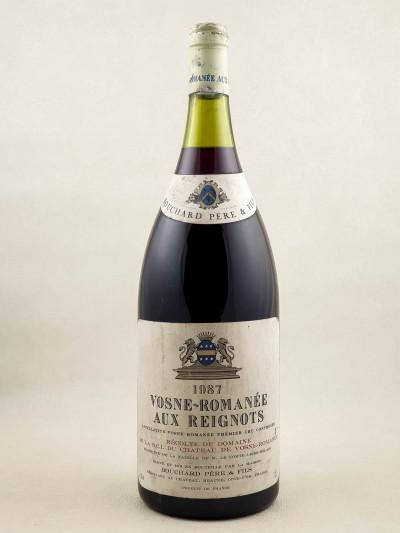 """Bouchard Père & Fils - Vosne Romanée 1er cru """"Aux Reignots"""" 1987 MAGNUM"""